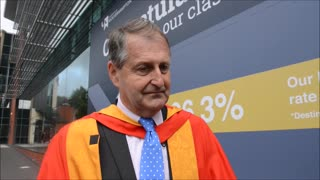 Henry Carver receives honorary degree from Wolverhampton - Video