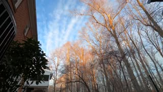 Time lapse of starch and fast clouds