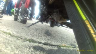 Popping a Wheelie at 218 MPH