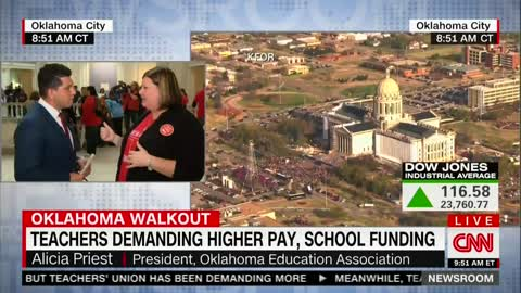 'They Failed Our Students': Okla. Teachers Protest Lack of Education Funding