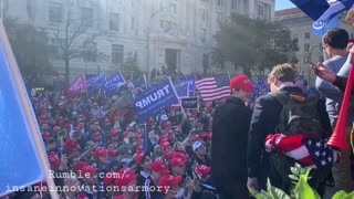 """""""Stop The Steal"""" Chanted At Million MAGA March"""