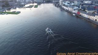 Air view of the Galway docks and claddagh - Video