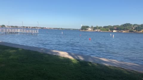 Sometimes it is cool just to watch the waves at the lake.