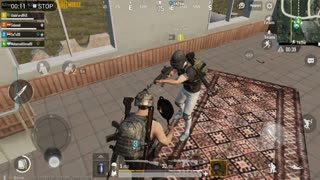 Pubg Mobile Game Using Pan To Kill 4 People With Team Members