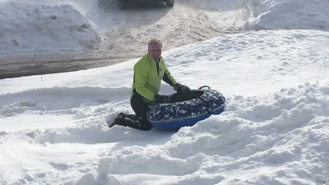 He Thought Sledding in His Yard Would Be Safe...