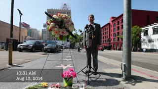 Lauren Bacall Wreath Ceremony on Hollywood Walk of Fame - Video