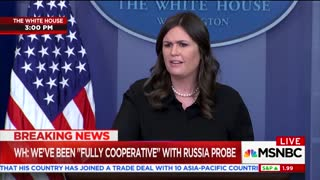 Sarah Sanders Touts Trump's Crime 'Crackdown' In Response to Question About Mass Shootings 2 - Video