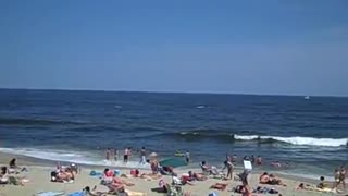 NORTH BEACH PIER VILLAGE - Quick 360 Degree View (NJ/New Jersey shore ocean front scene) - Travel Tourism Beach Vacation - Video