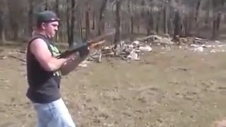 That rifle is on fire. - Video