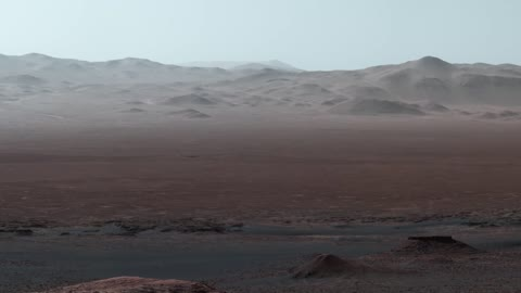 Incredible tour of Mars rover's view in Gale Crater