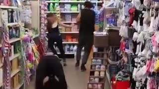 Woman Goes Grabbing At Supermarket - Video