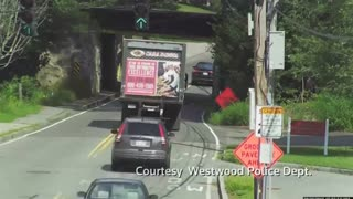 Multiple truck drivers slam into notorious bridge - Video