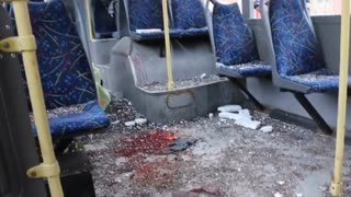 Thirteen Civilians Killed After City Bus Shelled By Russian Terrorists In Donetsk, Jan 22 2015 - Video