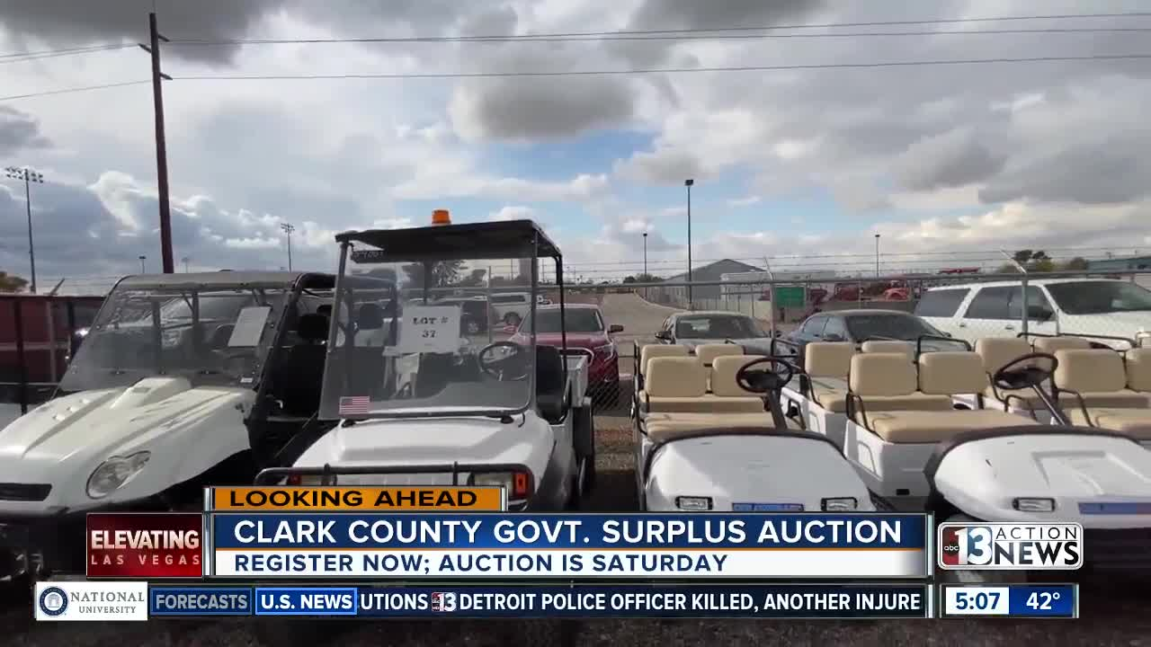 Clark County auction happening Saturday