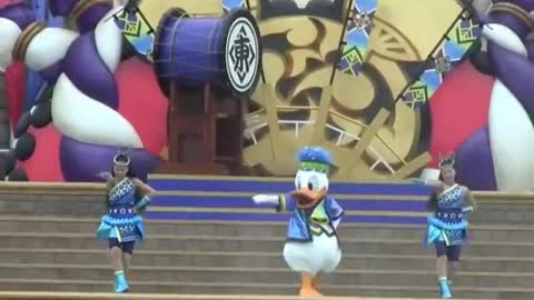 Special MR Duck Perform Special Show On Stage