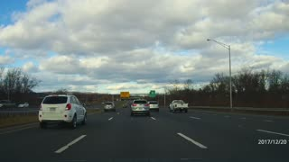 Driver makes unsafe lane changes  - Video