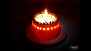 How to make a Decorated candle with orange - Video