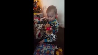 2 Year Olds Funny Reactions to Christmas Day Presents! - Video