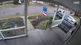 Delivery Driver Takes Package from Rival Company