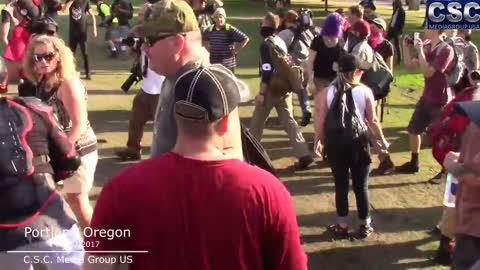 Key Moments Highlighted Violence Erupts After AntiFa Tries To Take American Flag From Patriots