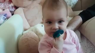 sleepy baby shuts down  - Video