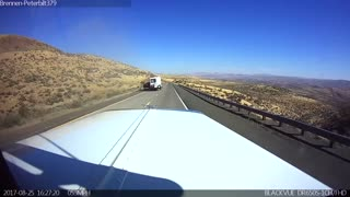 Out Of Control Camper Wrecks Off Desert Road