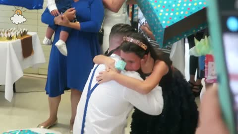 Daughter Gives Dad A Huge Surprise At Birthday Party
