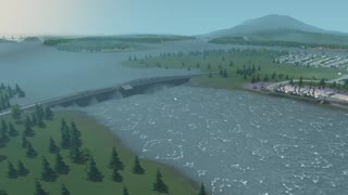 Cities Skylines Morning Mayhem Flooding - Video