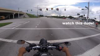 Cyclist Served with Instant Justice After Crossing Against a Green Light - Video