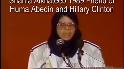 Warned in 1989! Sharia is the goal, Taqiyya is the method. Meet Clinton pal - Sharifa Alkhateeb