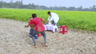 Getting q very big injection funny video