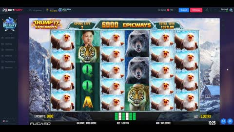 Trumpit Slots Machine - Buying Free Spins For 500 TRX