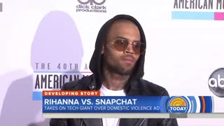Rihanna Criticizes Snapchat For Ad Referencing Domestic Violence - Video
