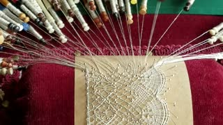 Craftswoman Shows The Intricate Process Of Lace Making - Video