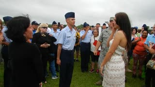 Air Force graduation marriage proposal - Video