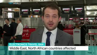 Electronics Travel Ban: Airlines telling passengers to check devices in - Video