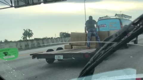 Strange Way to Secure a Load