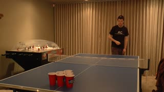 Talented Boy Shows Off Awesome Pong Trick Shots  - Video