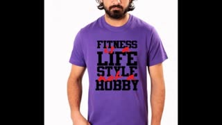 Purple Colour Funny T Shirts - Video