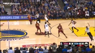 Draymond Green and Warriors Fans TROLL LeBron James After Ridiculous Sniper Fire Flop - Video