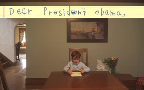6-year-old writes letter to President Obama offering home to Syrian boy