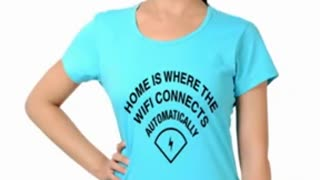 Turquoise Colur Womens Graphic T Shirts - Video