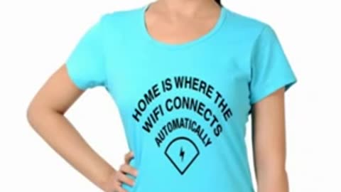 Turquoise Colur Womens Graphic T Shirts