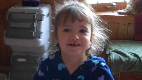 3 year old girl sings You are my sunshine