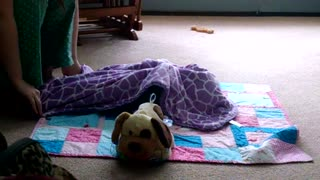 Playing Peek-a-Boo with a baby - Video