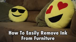 How to easily remove ink from furniture - Video