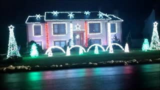 These holiday lights are ready to party! - Video
