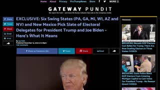 SIX SWING STATES and New Mexico Cast Electors For Trump AND Biden, Contested Election?