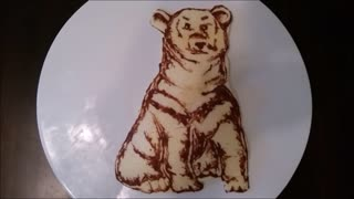 How to make a polar bear pancake - Video
