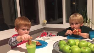 Two Boys Have Very Different Reactions To One Surprise Announcement - Video